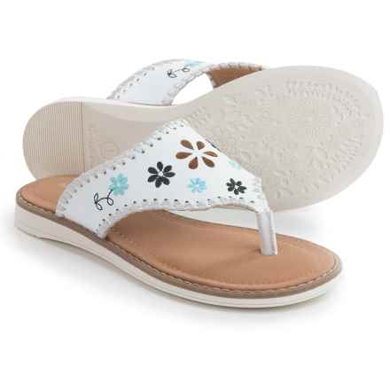 Hanna Andersson Dagmar Embellished Sandals (For Little and Big Girls) in White - Closeouts