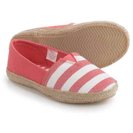 Hanna Andersson Paulina Striped Espadrilles (For Little and Big Girls) in Melon/White - Closeouts