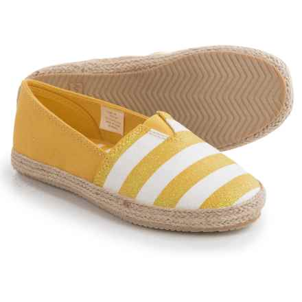Hanna Andersson Paulina Striped Espadrilles (For Little and Big Girls) in Warm Sun - Closeouts