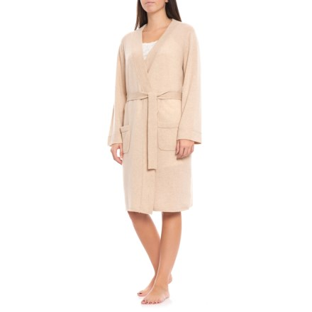 Hannah Rose 100% Cashmere Spa Robe (For Women) in Dune - Closeouts dd3116f7d