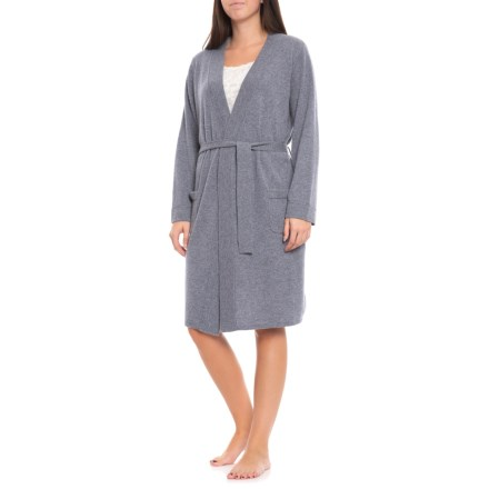 Hannah Rose 100% Cashmere Spa Robe - Long Sleeve (For Women) in Bluestone 433eb9bb8