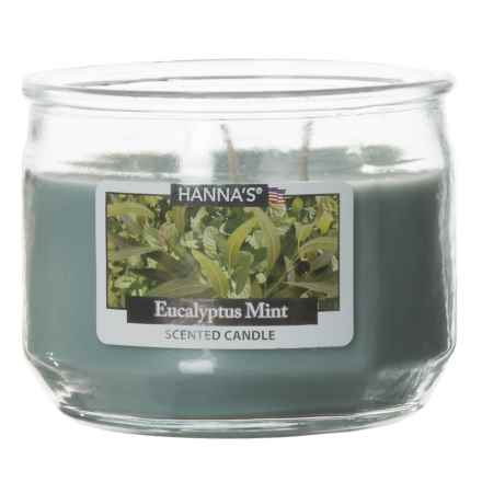 Hanna's Candle Eucalyptus Mist Candle - 3-Wick, 11.5 oz. in Green - Closeouts