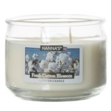Hanna's Candle Fresh Cotton Blossom Candle - 3-Wick, 11.5 oz.