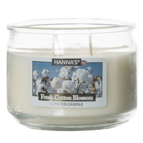 Hanna's Candle Fresh Cotton Blossom Candle - 3-Wick, 11.5 oz. in White