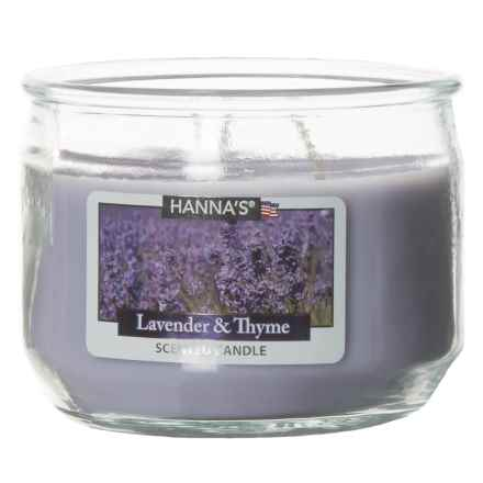Hanna's Candle Lavender and Thyme Candle - 3-Wick, 11.5 oz. in Purple - Closeouts
