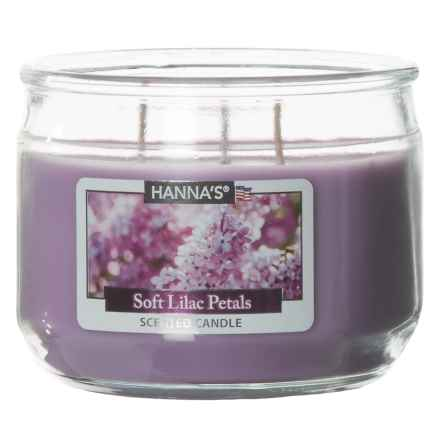 Hanna's Candle Soft Lilac Petals Candle - 3-Wick, 11.5 oz. in Purple - Closeouts