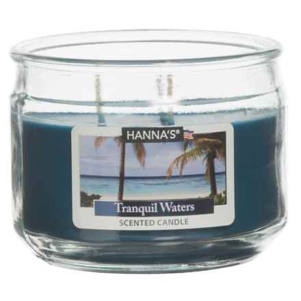 Hanna's Candle Tranquil Waters Candle - 11.5 oz. in Blue - Closeouts