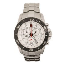 Hanowa Swiss Military Marine Officer Watch - Chronograph in White/Stainless Steel - Closeouts