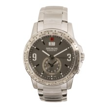 Hanowa Swiss Military Revenge Watch - Dual Time in Brown/Stainless Steel - Closeouts