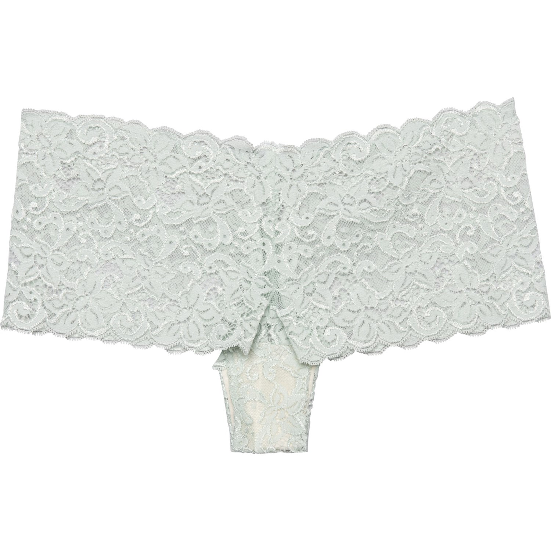 Blue Stretch Lace Shorties Boyshorts Ladies Womens Underwear Plus Size 8 to 20
