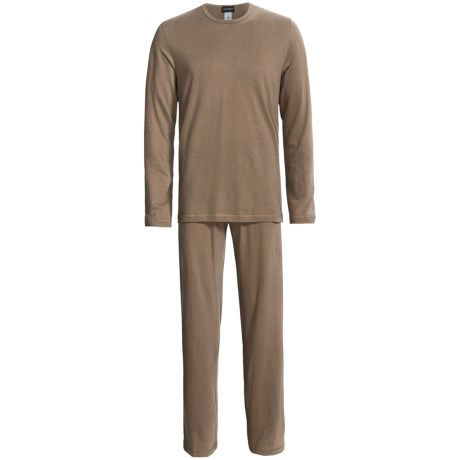 Hanro Cotton-Cashmere Loungewear Set - Long Sleeve (For Men) in Tone