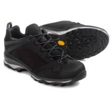 Hanwag Belorado Low Hiking Shoes - Nubuck (For Men) in Black - Closeouts