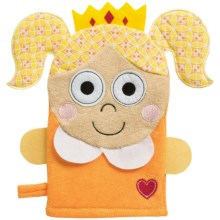 Happi by Dena Princess Terry Cloth Wash Mitt in Orange - Closeouts