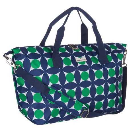 Happy Chic by Jonathan Adler Weekender Bag in Circles Green/Navy