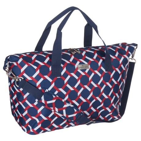 Happy Chic by Jonathan Adler Weekender Bag in Lattice Red/Navy