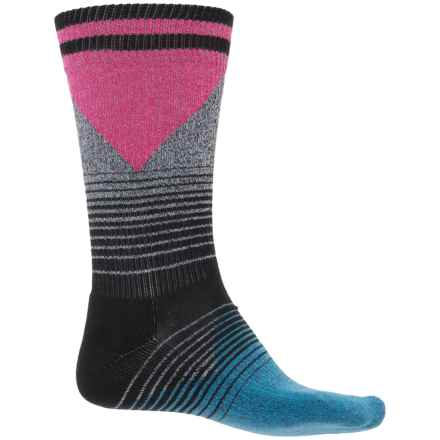 Happy Socks '80s Fade Combed Cotton Socks - Crew (For Men) in Pink/Blue - Closeouts