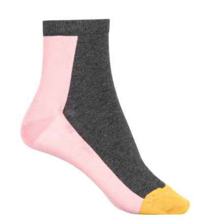 Happy Socks Combed Cotton Socks - Ankle (For Women) in Charcoal - Closeouts