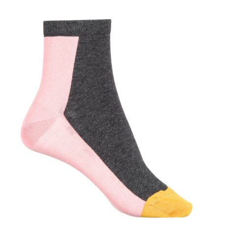Happy Socks Combed Cotton Socks - Ankle (For Women) in Charcoal
