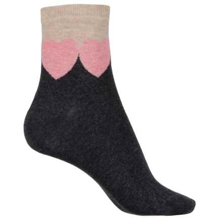 Happy Socks Combed Cotton Socks - Ankle (For Women) in Grey/Pink - Closeouts