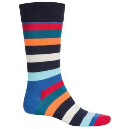 Happy Socks Combed Cotton Socks - Crew (For Men) in Multi - Closeouts