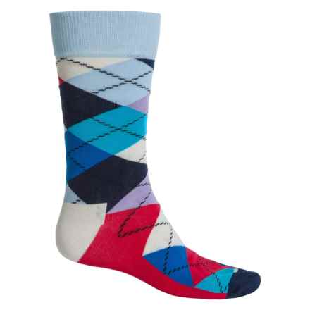 Happy Socks Combed Cotton Socks - Crew (For Men) in Navy/Red/White - Closeouts