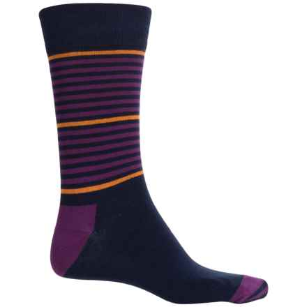 Happy Socks Combed Cotton Socks - Crew (For Men) in Navy - Closeouts