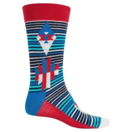 Happy Socks Combed Cotton Socks - Crew (For Men) in Red/White/Blue - Closeouts