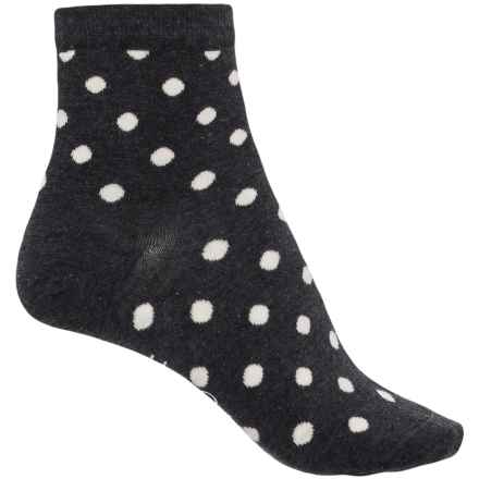 Happy Socks Cotton Dot Socks - Ankle (For Women) in Charcoal - Closeouts