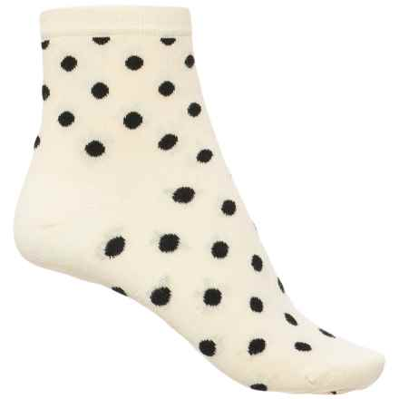Happy Socks Cotton Dot Socks - Ankle (For Women) in White/Black - Closeouts