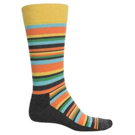 Happy Socks HS Variegated Stripes Socks - Crew (For Men) in Grey/Green - Closeouts