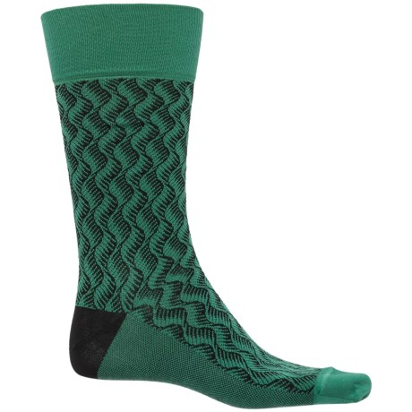 Happy Socks Mercerized Cotton Socks - Crew (For Men) in Green