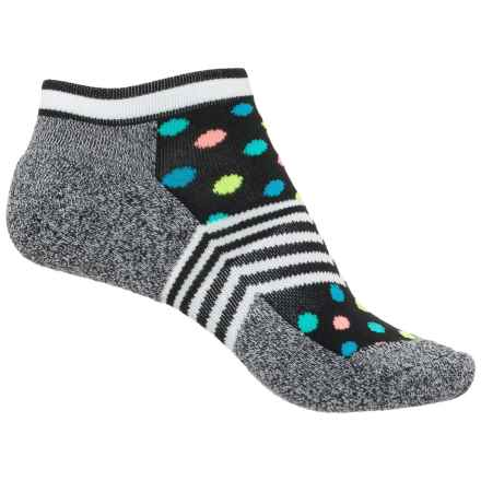 Happy Socks Terry Athletic Socks - Below the Ankle (For Women) in Black/Bright - Closeouts