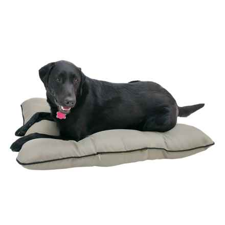"""Happy Tails Adventure Outdoor Dog Bed - 36x27"""" in Light Khaki W/Black Piping - Closeouts"""