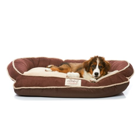 Happy Tails Bolster Dog Bed - 35x24""
