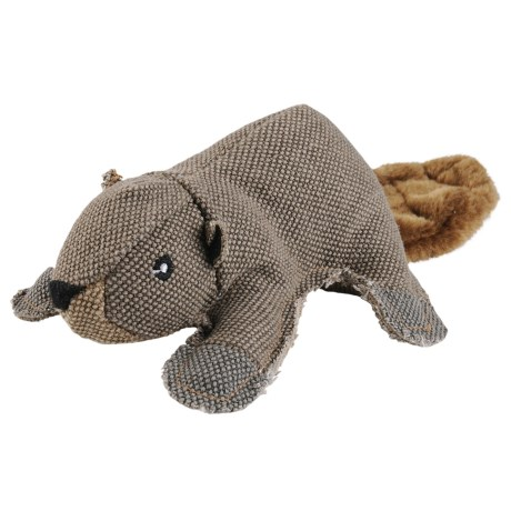 Happy Tails Critterz Beaver Dog Toy in See Photo