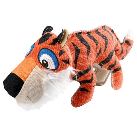 Happy Tails Critterz Bengal Tiger Dog Toy in See Photo