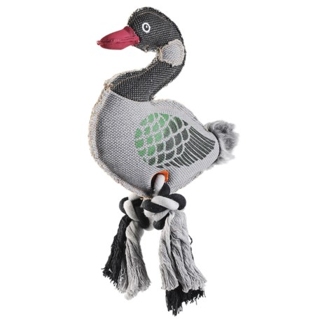 Happy Tails Critterz Goose Dog Toy - Squeaker in See Photo