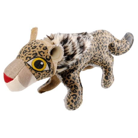 Happy Tails Critterz Leopard Dog Toy in See Photo