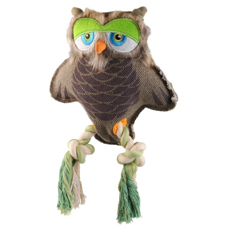 Happy Tails Critterz Owl Dog Toy - Squeaker in See Photo