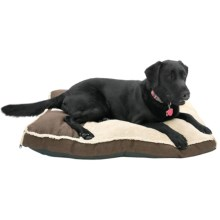 "Happy Tails Deluxe Gusseted Dog Bed - 36x26"" in Chocolate - Closeouts"