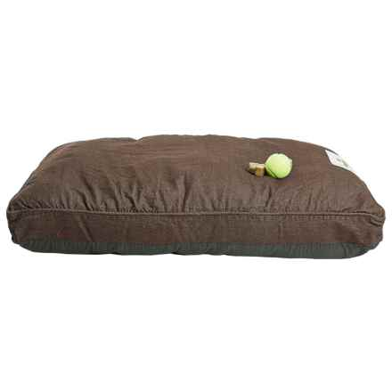 "Happy Tails Denim Wash Dog Bed - Large, 40x28"" in Brown - Closeouts"