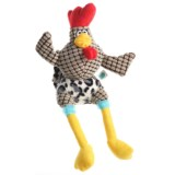 Happy Tails Doodles Wacky Chicken Dog Toy - Squeaker