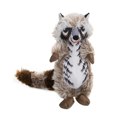 Happy Tails Loonies Raccoon Dog Toy - Squeaker in Brown