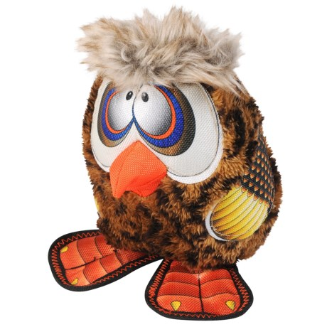 Happy Tails Loonies Zany Owl Dog Toy - Squeaker in See Photo