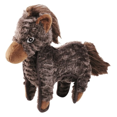 Happy Tails Ruffs Horse Dog Toy in See Photo