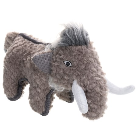 Happy Tails Ruffs Mammoth Durable Adventure Dog Toy in Gray