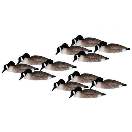 Hardcore Canada Goose Shell Feeder Decoys - 12-Pack in See Photo - Closeouts