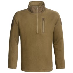 Hardy Langley Knit Fleece Shirt - Zip Neck, Long Sleeve (For Men) in Olive