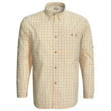 Hardy Radcliffe Tattersall Shirt - Long Sleeve (For Men) in Cream - Closeouts