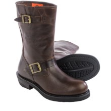 "Harley-Davidson Dartford Motorcycle Boots - 10"", Leather (For Women) in Drum Brown - Closeouts"